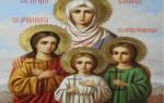 От чего помогает молитва вере надежде любовь