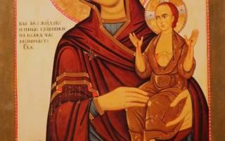 Икона нечаянная радость молитва о даровании детей