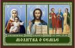 Молитва за семью христианская