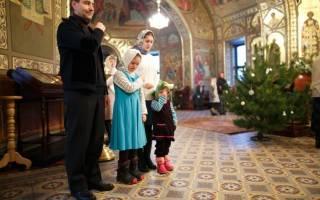 В церковь на рождество молитва