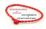 Красная нитка на левую руку молитва