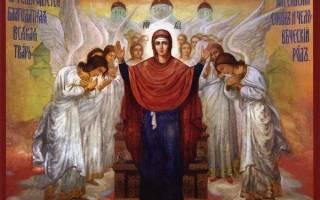 Молитва божия матерь нерушимая стена
