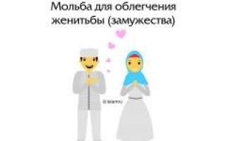 Молитва при женитьбе в исламе