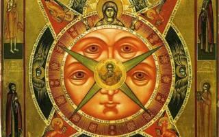Православная икона всевидящее око молитва