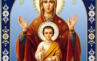 Икона знамение божья матерь в чем помогает молитва