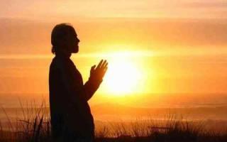 Утренняя молитва в монастыре