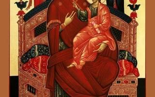 Икона всецарица молитва от рака на русском языке