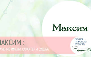 Максим скорпион характеристика. Характеристика и значение имени максим