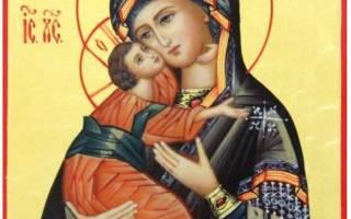 Молитва владимирской божьей матери в чем