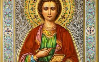 Икона и молитва пантелеймону целителю