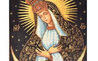Остробрамская икона божьей матери молитва самая сильная